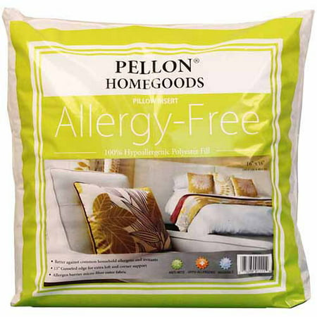 Pellon Homegoods AllergyFree Pillow Inserts 400 X 400 Set Of 40 Magnificent 16x16 Pillow Insert Walmart