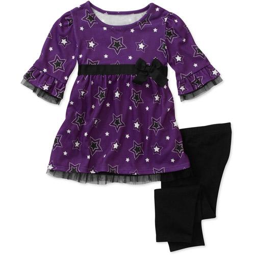 Healthtex Baby Girls' 2 Piece Printed Tunic and Legging Set