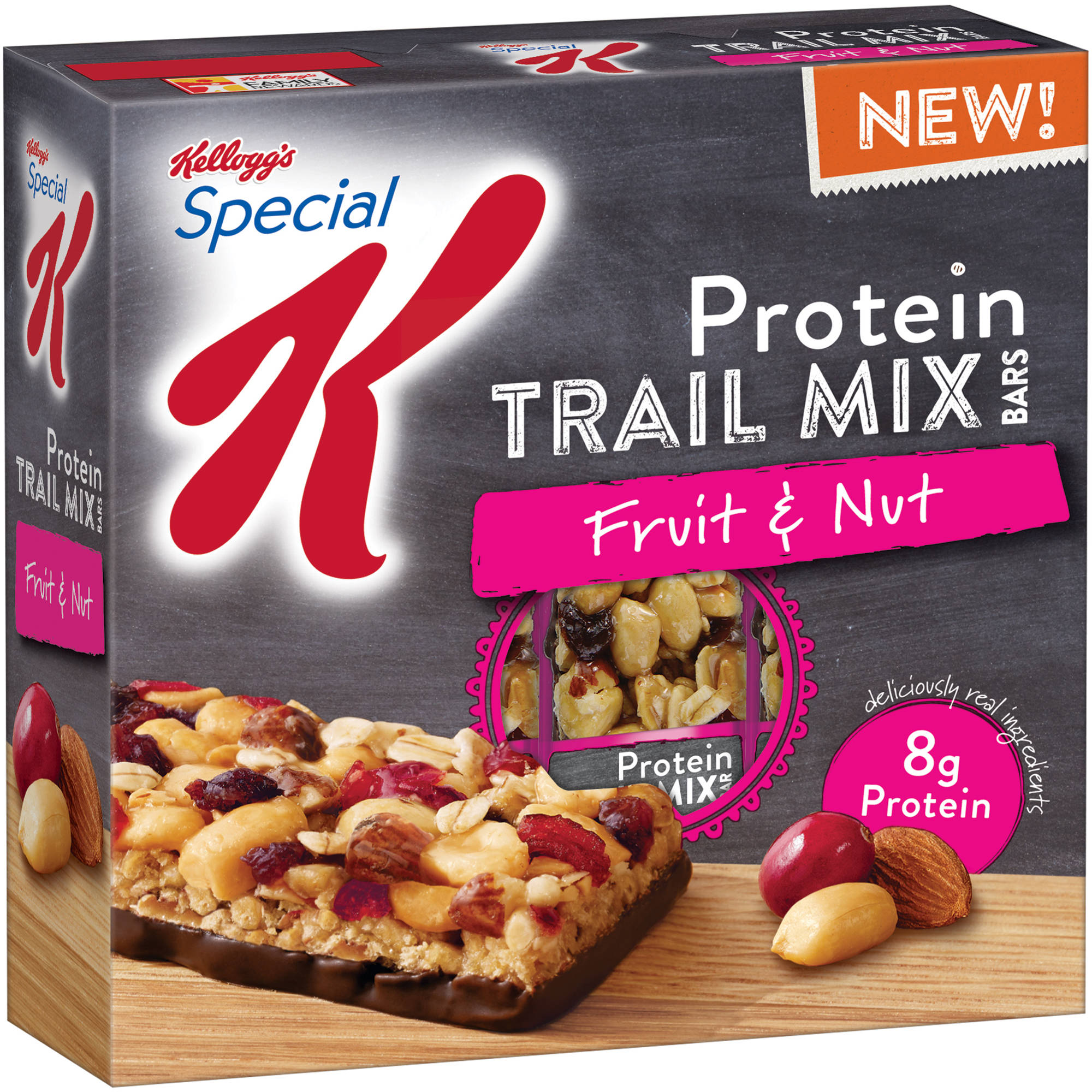Kellogg's Special K Protein Fruit & Nut Trail Mix Bars, 1.23 oz, 5 ct
