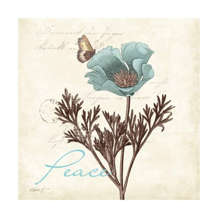 Touch of Blue I - Peace Print Wall Art By Katie Pertiet