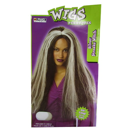 Women Color Streaks Witch Wig Accessory