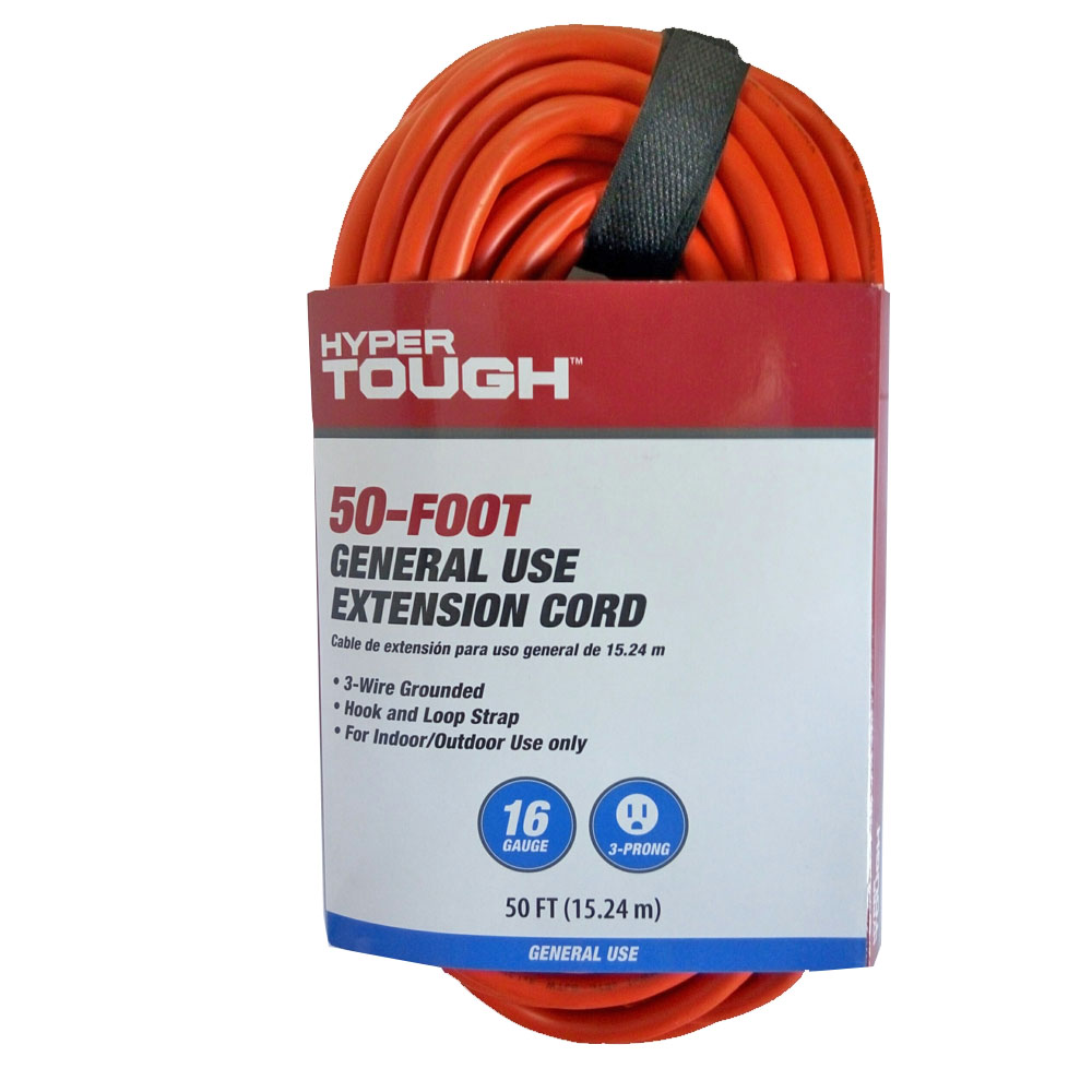 Hyper Tough 50ft 16x3c Orange Extension Cord