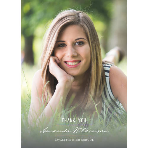 Elegant Grad Graduation Thank You Card