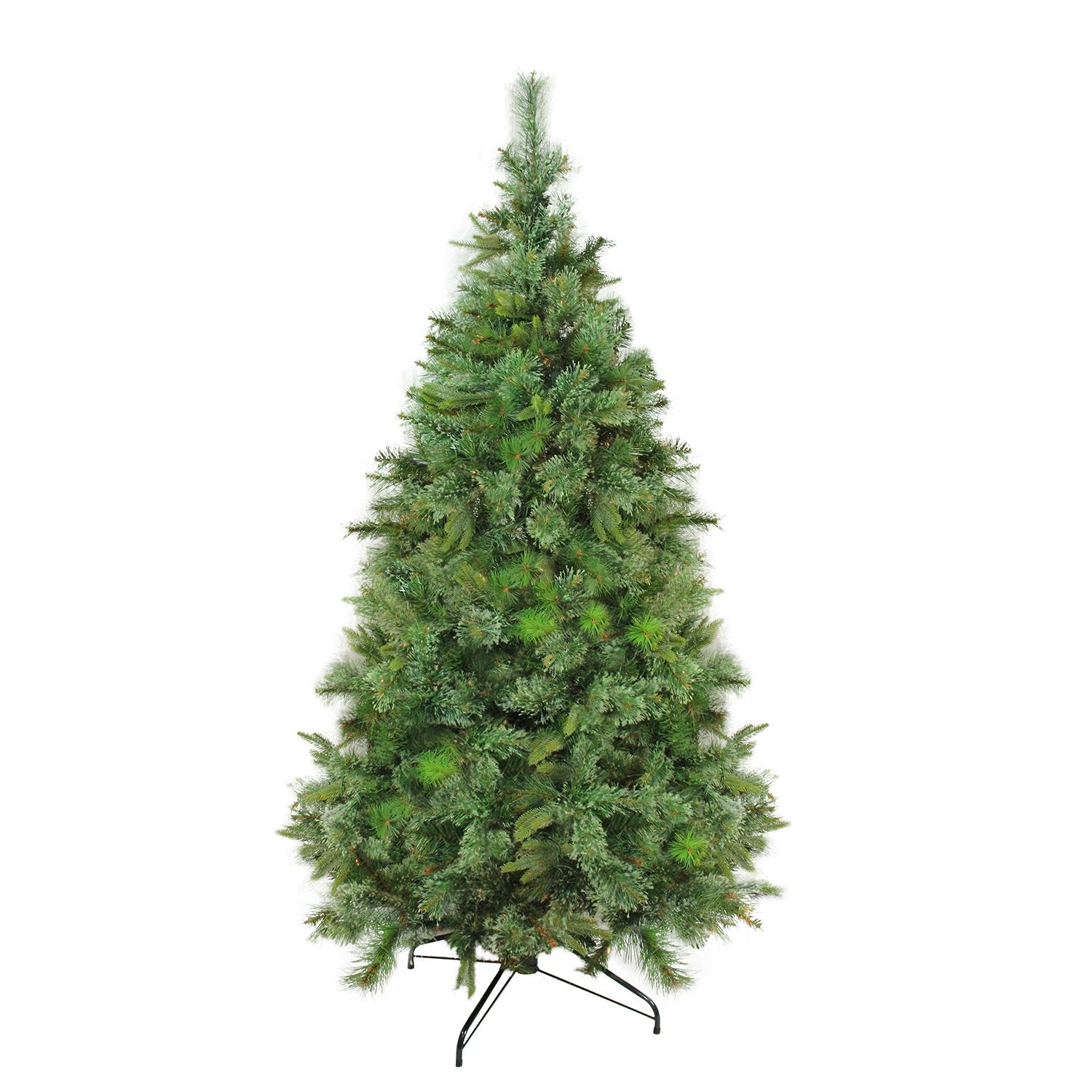 "7.5' x 55"" Cashmere Mixed Pine Full Artificial Christmas Tree - Unlit"