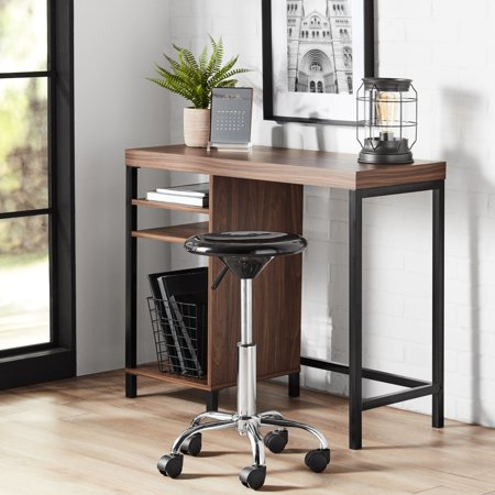 Mainstays Sumpter Park Cube Storage Computer Desk, Canyon Walnut Finish
