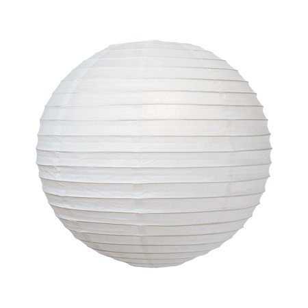 Premium Paper Lantern, Clip-On Lamp Shade (10-Inch, Parallel Style Ribbed, Perfect White) - Chinese/Japanese Hanging Decoration - For Parties, Weddings, and Homes](Paper For Wedding Programs)