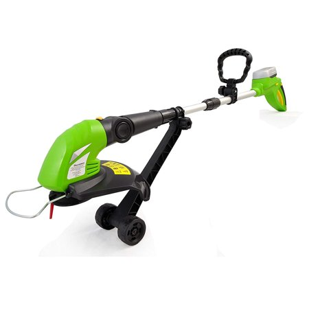 Image of SereneLife Grass Cordless Clippers Power Edge Trimmer with Rechargeable String Trimmer - Electric 18 Volt Rechargeable Battery Powered Weed Eater - AZPSLCGM25