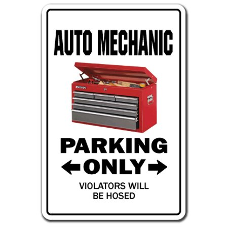 Auto Mechanic Novelty Sign
