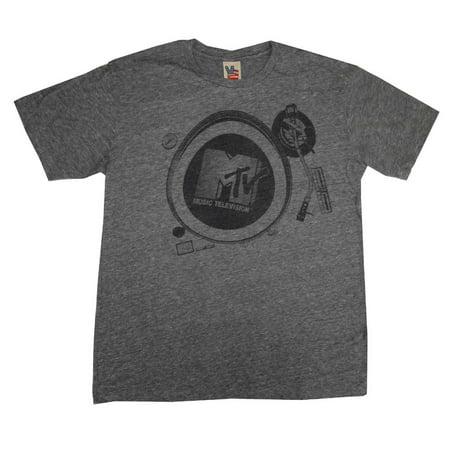 - MTV Music Television DJ Turntable Vintage Style Junk Food Adult T-Shirt Tee