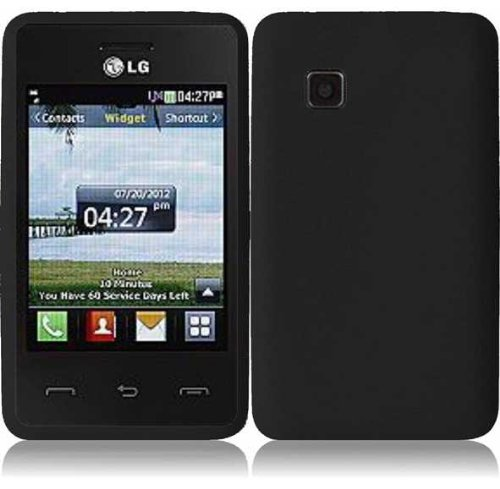 Silicone Skin Case for LG 840G - Black