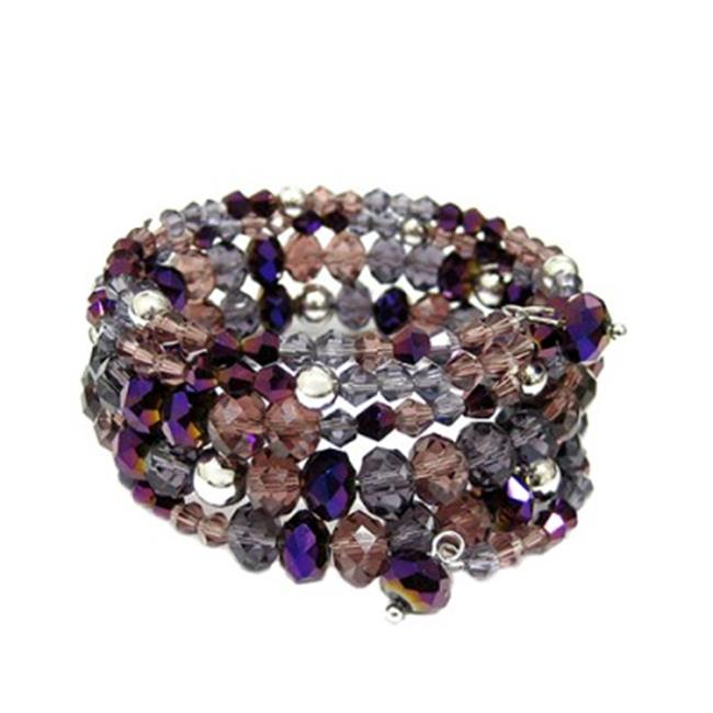 C Jewelry Multicolor Purple And Green Hinged Bracelets