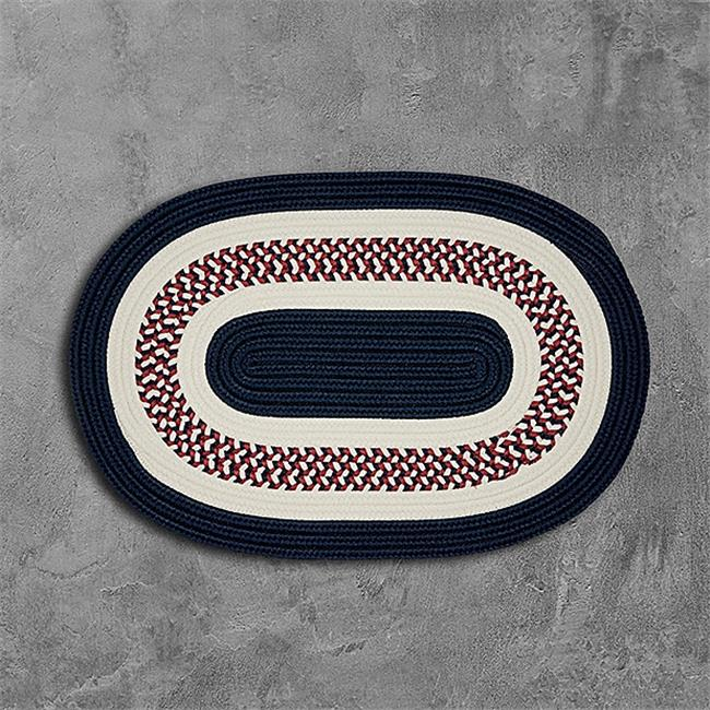 Colonial Mills Fb70r072x072 6 X 6 Ft Flowers Bay Round Braided Rug Patriot Red
