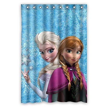 DEYOU Unusual White Snow World Style Animations Frozen Elsa Anna Olaf Shower Curtain Polyester Fabric Bathroom