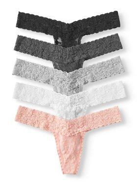 888bc8a3cf40 Product Image No Boundaries 5 Pack Lace Thongs. Product TitleSAO GenericNo  ...