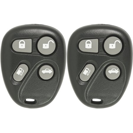 New Keyless Entry 4 Button Replacement Remote Car Key Fob for Select DeVille Eldorado SeVille That Use FCC ID KOBLEAR1XT 25695966 (2 Pack)