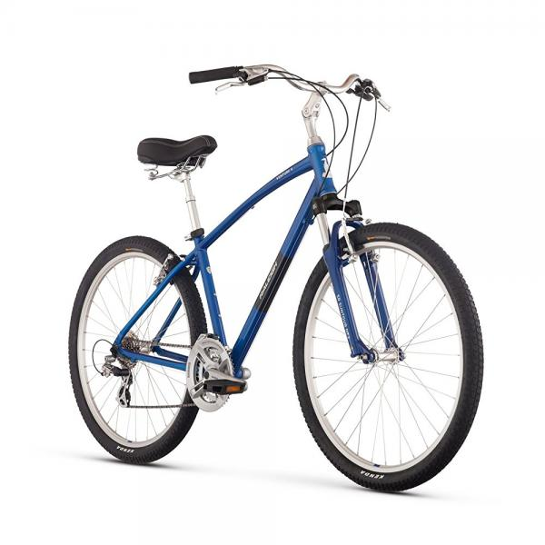 "raleigh bikes venture 4.0 comfort bike, blue, 19""/large"