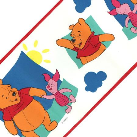 Pooh Wallpaper (Blue Mountain Wallcoverings 12440680 Disney Winnie Pooh Piglet Wallpaper Border Accent Roll)