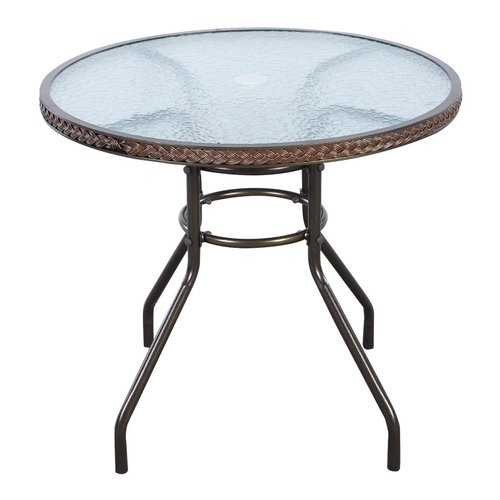 Red Barrel Studio Blanchet Glass Bistro Table