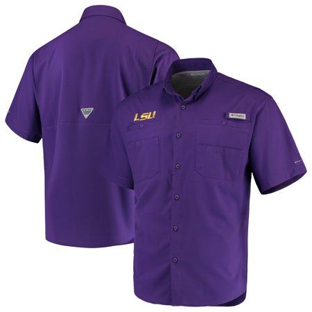 LSU Tigers Columbia PFG Tamiami Shirt - Purple