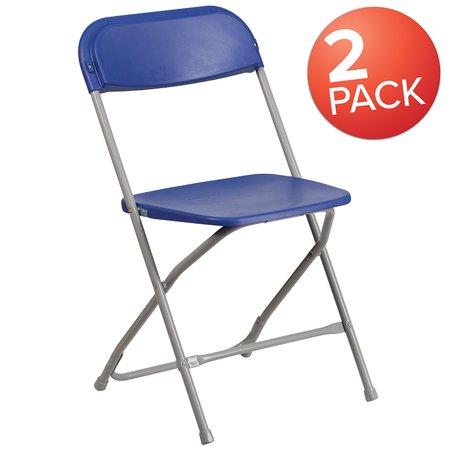 Phenomenal 2 Pack 650 Lb Capacity Premium Blue Plastic Folding Chair Machost Co Dining Chair Design Ideas Machostcouk