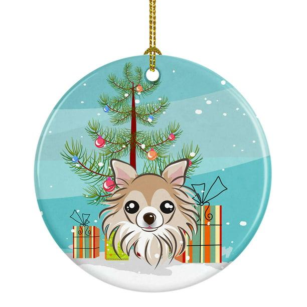Christmas Tree And Chihuahua Ceramic Ornament Walmart Com Walmart Com
