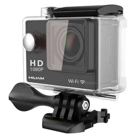 Hawk Helmets Tech Hawk Helmets Vision H10 1080p Waterproof Action Camera w/ Wifi Black One -