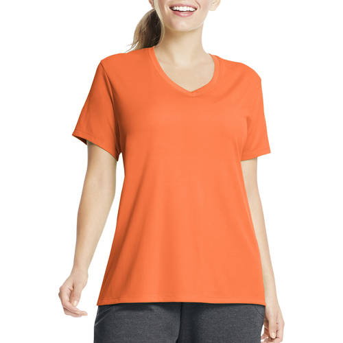 Just My Size Women's Plus Size Cool DRI Performance V neck