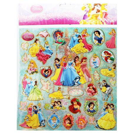 Disney Princess Assorted Characters Sticker Sheet (35 Stickers) (Disney Princess Stickers)
