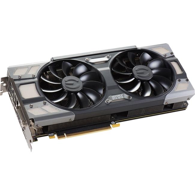 EVGA GeForce GTX 1070 8GB FTW DT GAMING ACX 3.0, w/ Adjus...