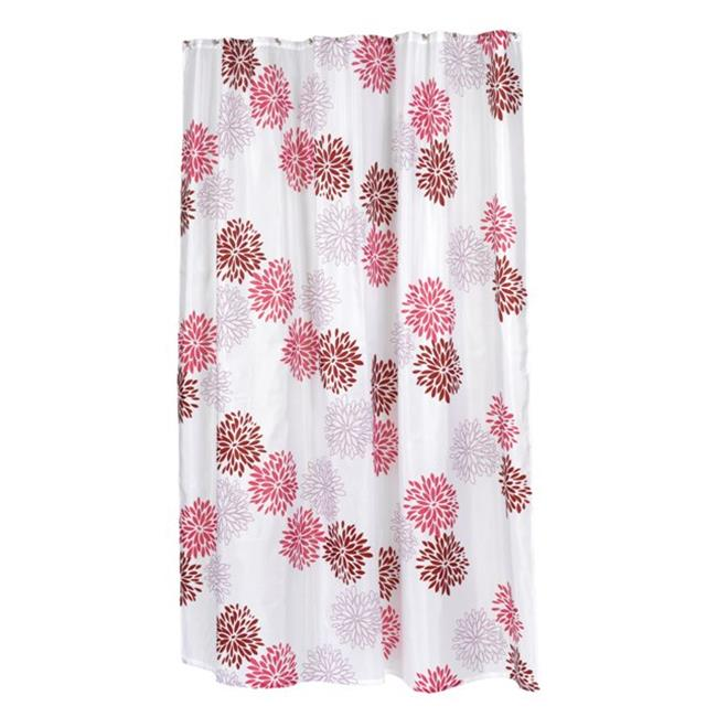 Carnation Home Fashions Fscxl 96 Ema 70 X In Emma Extra Long Fabric Shower Curtain Multi Color
