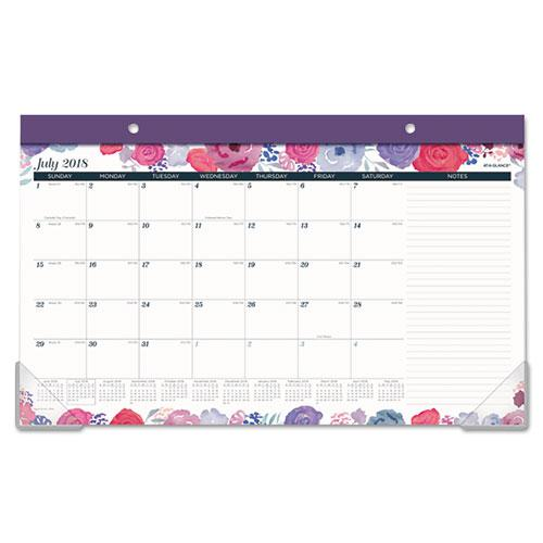 Academic Compact Monthly Desk Pad, 17 3 4 x 10 7 8, Midnight Rose, 2018-2019 by AT-A-GLANCE