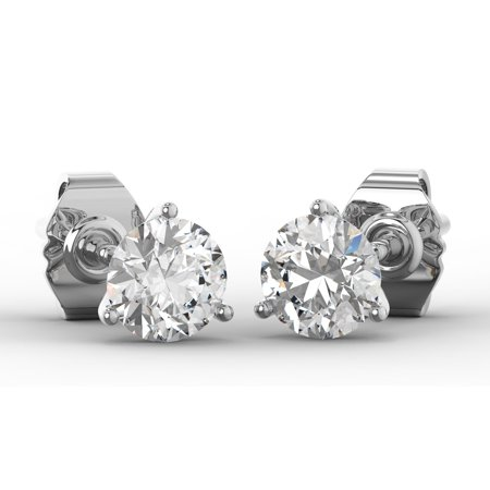 4c49d3525 SuperJeweler 1 1/2 Carat Lab Grown Diamond Stud Earrings In 14 Karat White  Gold