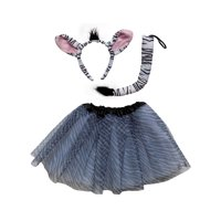 So Sydney Kids Teen Adult Plus 2 Pc Tutu Skirt, Ears, Tail Headband Costume Halloween Outfit