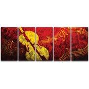 Metal Artscape Musical Delight 5 Piece Graphic Art Plaque Set