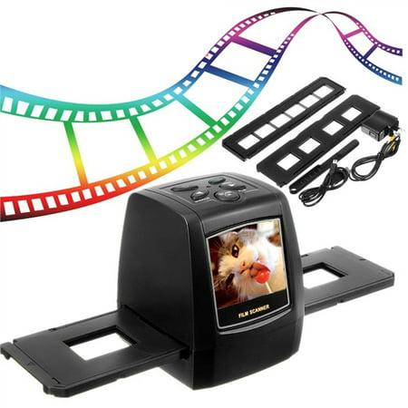 35/135MM Slide Film Scanner High Resolution 3600dpi 5.0 Mega Pixels Photo Scanner Mini Portable Negative Digital Film Converter LCD with US Plug