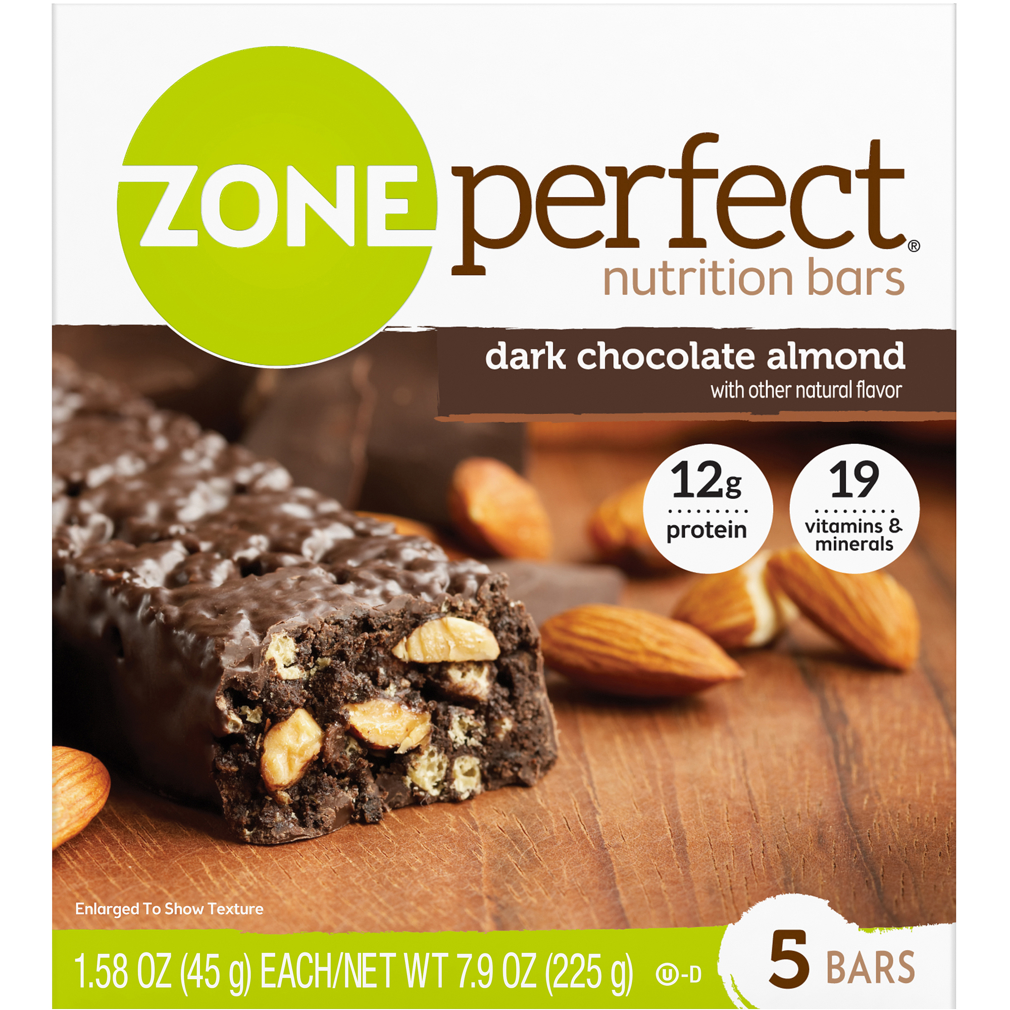 ZonePerfect Nutrition Bars, Dark Chocolate Almond, 5 count