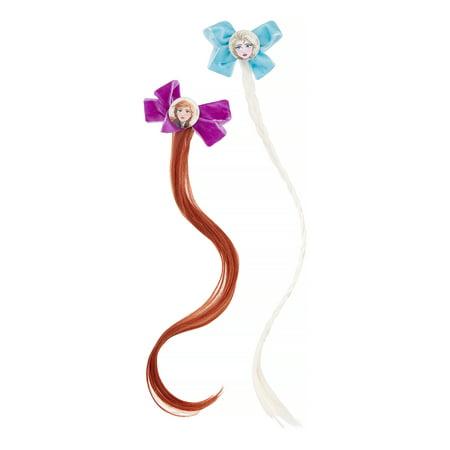 Disney Frozen 2 Elsa & Anna Faux Hair Bow Clips, 2