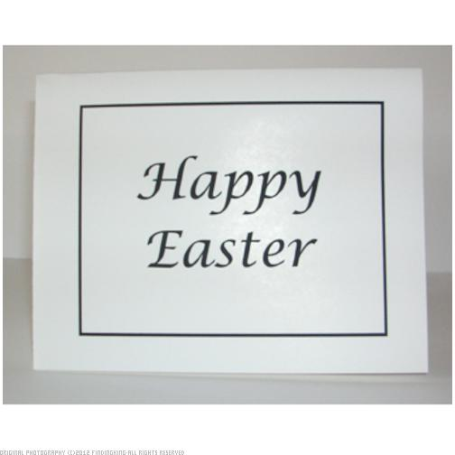 Village Wrought Iron Happy Easter Card with Match