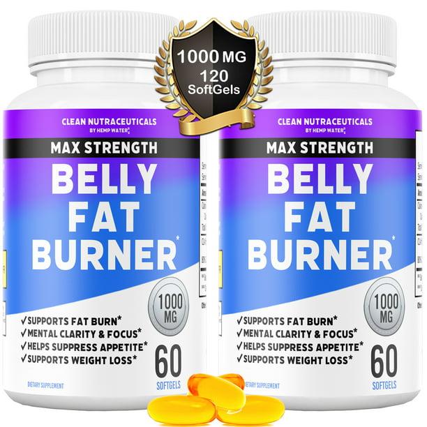 Belly Fat Burner Pills - CLA - Conjugated Linoleic Acid Softgels - Slim Stomach & Abdominals - Natural & Keto Diet Friendly Weight Loss Supplement for Men & Women - 120 Servings - 2 Bottles