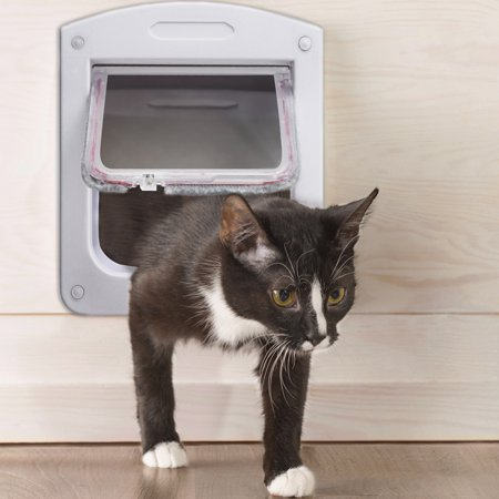 OxGord Dog Cat Flap Doors with 4 Way Lock for Pets Entry & Exit - 2016 Newly Designed Model