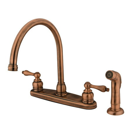 Kingston Brass Vintage Double Handle Kitchen Faucet with Side
