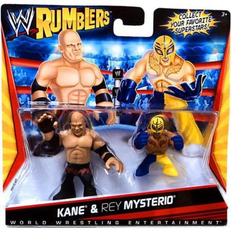 WWE Wrestling Rumblers Series 1 Kane & Rey Mysterio Mini Figure 2-Pack (Rey Mysterio Mask Buy)