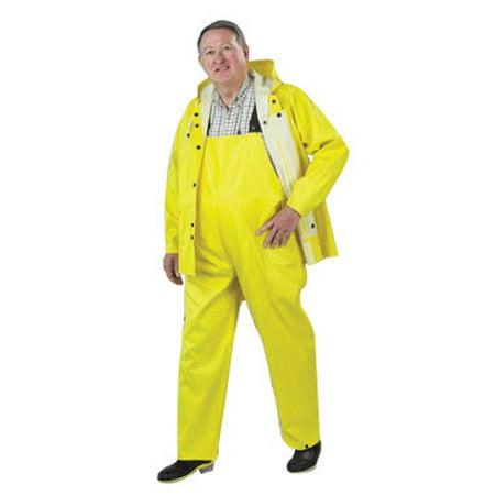 Bata/Onguard Large Yellow Webtex .65mm Ribbed PVC On Polyester Webtex Rain Jacket With Hood Snaps