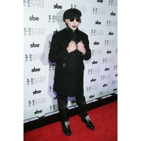 Marilyn Manson At Arrivals For Marilyn Manson Hosts Black Heart Ball Hyde At Bellagio Resort & Casino Las Vegas Nv February 14 2015 Photo By James AtoaEverett Collection Celebrity - Halloween Fantasy Ball Las Vegas