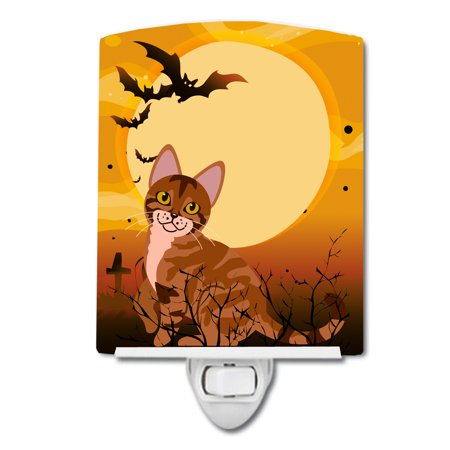Halloween Cat Night Light (Halloween Sokoke Cat Ceramic Night)