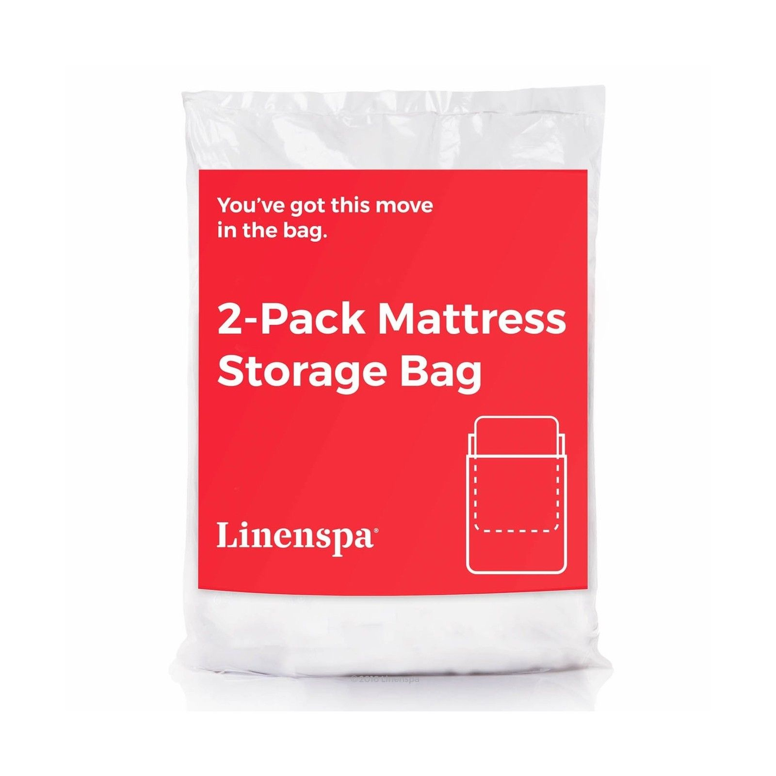 LINENSPA 2-Pack Mattress Bag for Moving and Storage for Twin / ...
