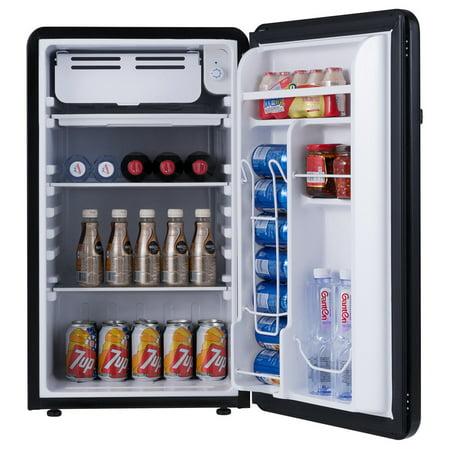 3.2 Cu Ft Retro Compact Refrigerator w/ Freezer Interior Shelves Handle - image 3 of 10