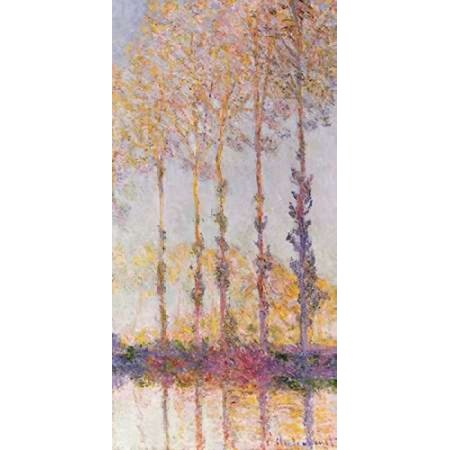 Poplars On The Banks Of The Epte Canvas Art   Claude Monet  10 X 20