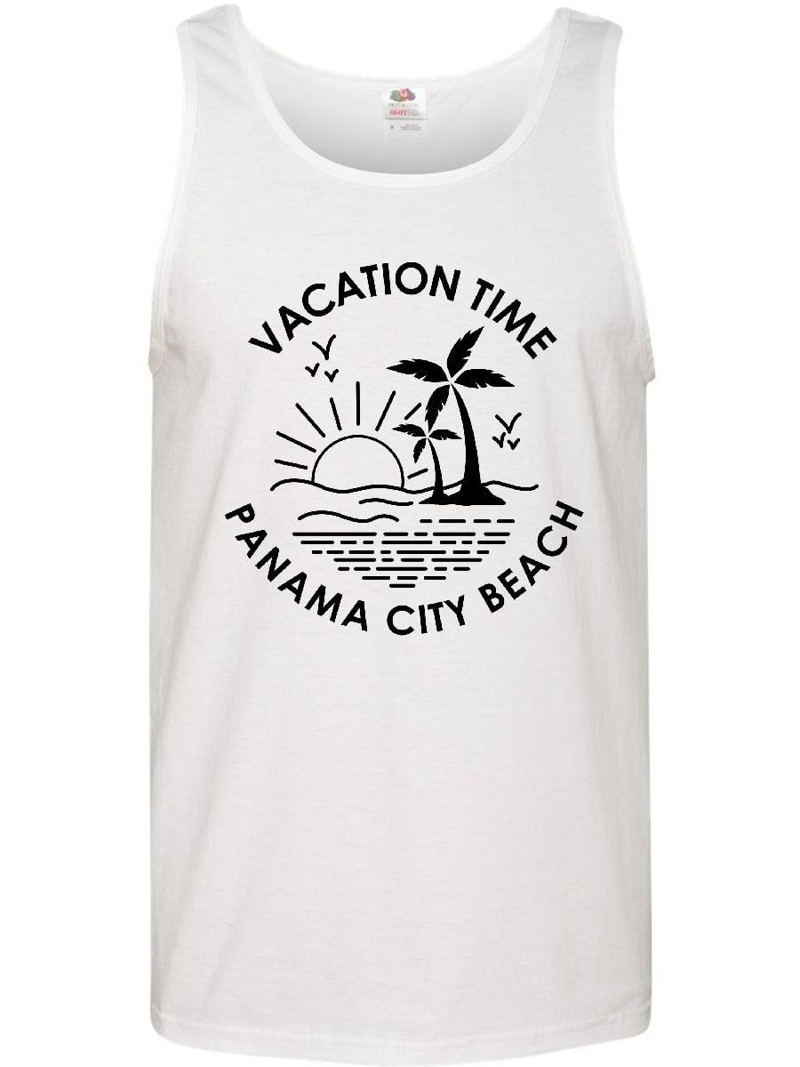 e2da293b3e22a5 Vacation Time in Panama City Beach Men s Tank Top - Walmart.com