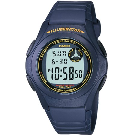 Men's Digital Watch, Blue - F200W-2B - Watch Grave Halloween Online